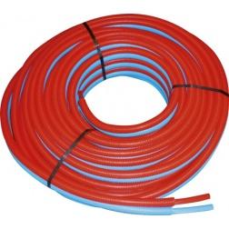 Tube PER Ø 13 X 16 Double Prégainé Bleu/Rouge - Rlx 50 m