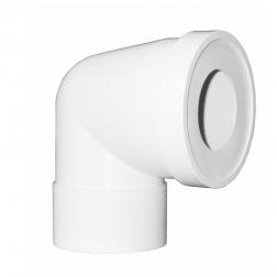 Pipe coudé WC Courte Femelle Ø 100 - Long 130 mm