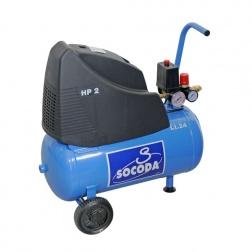 Compresseur d'air à entrainement direct lubrifié 24 L - 2CV