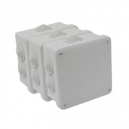 Boîte Etanche Carré 100 x 100 x 50 à visser IP 54