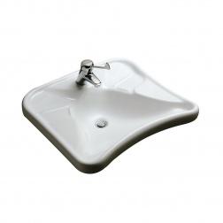 Lavabo Ergonomique 67 x 60 MATURA 2 Handicapé Incurvé