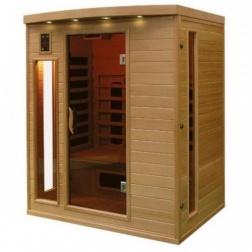 Sauna à infrarouge Bois Canada Hemlock 2070 w 3 Pers