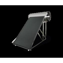 Ensemble solaire complet thermosiphon 2 Capteurs Ballon Inox 200 L DS-COMPACT INOX 2.200 NT support toit incliné