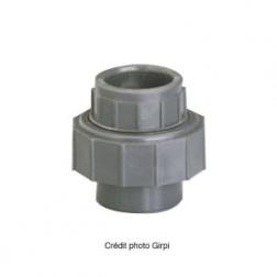 Union pression à coller 3 pièces Ø 50 F/F