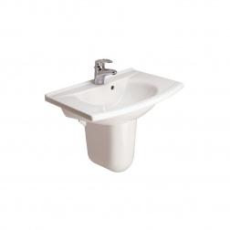 Lavabo MATURA 65 X 50 avec Trop-plein P1363 01 Blanc