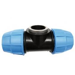 Té PVC tube PE Ø 25 Femelle 20/27 au centre