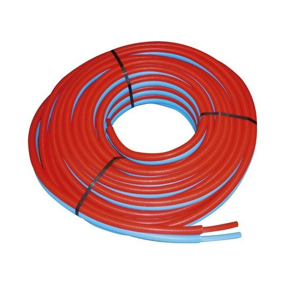 Tube PER Ø 10 X 12 Double Prégainé Bleu / Rouge Rlx 100