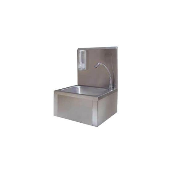 Lave- main INOX + dosseret 400 x 335 x 545 Cde au genou par volet