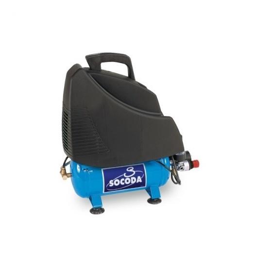 Compresseur d'air à entrainement direct sans huile 6 L - 1,5CV