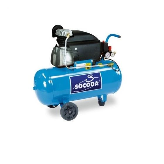 Compresseur d'air 100 L entrainement courroie Bi - cylindre