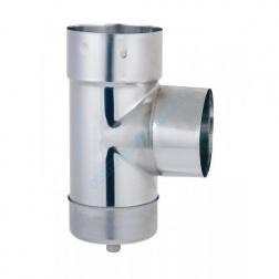 Té inox avec purge pour tubage flexible Inox