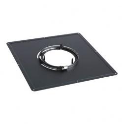 Plaque de propreté Noire 300 x 300 - Ø 100 mm