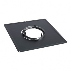 Plaque Propreté pour plafond Noir mat 300 x 300