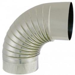 Coude plissé 90° S/Paroi - Inox 304