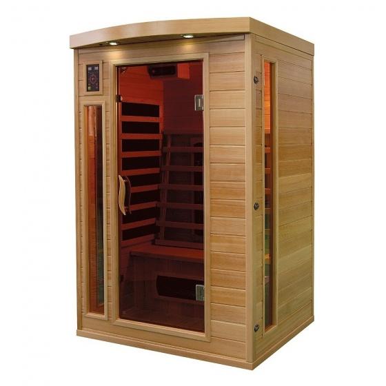 Sauna à infrarouge Bois Canada Hemlock 1800 w 2 Pers