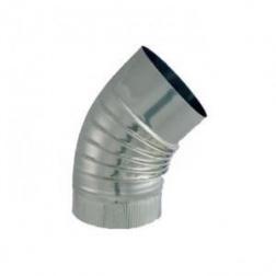 Coude plissé BR 45° S/Paroi - Inox 304