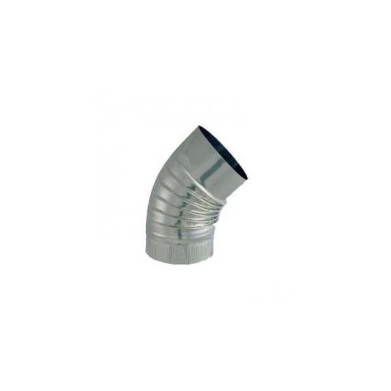 Coude plissé BR 45° S/Paroi Ø 125 Inox 304
