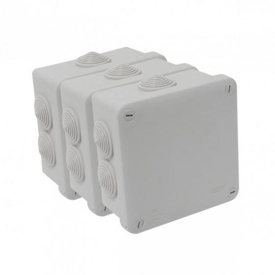 Boîte Etanche Dérivation Carré 80 X 80 X 40 - IP 55
