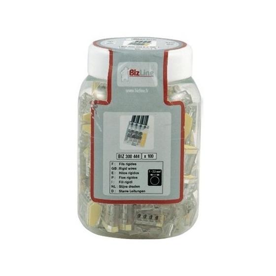 Connecteur rapide WAGO 0.50 à 2.5 mm2 - 2 Fils - Bte 100