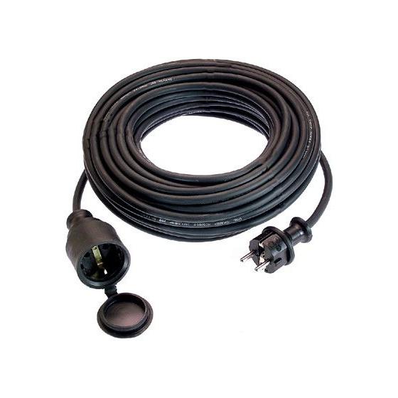 Cordon prolongateur 10 m caoutchouc 16 A - H07 RNF 3G 1.5mm2
