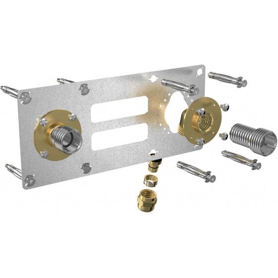 Robifix pour cloison sèche F1/2 PER Ø 16 à compression entraxe 150 mm