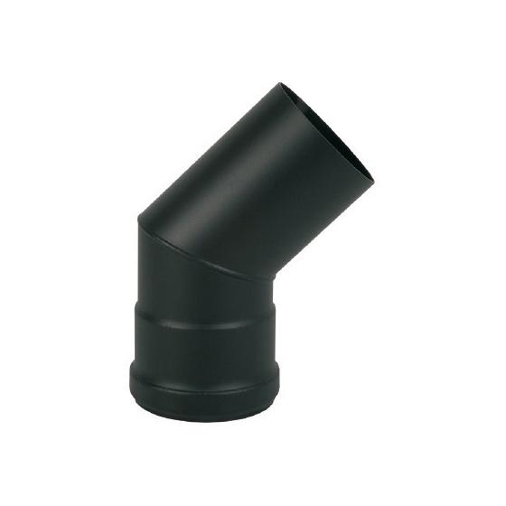 Coude fumée 45 ° Evacuation Ø 80 mm - Noir
