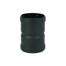 Manchon 12 cm Femelle / Femelle Ø 80 mm Noir