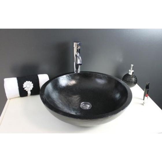 vasque poser eloise noire 400 x 130 mm discount negoce com. Black Bedroom Furniture Sets. Home Design Ideas