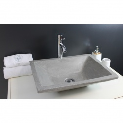 Vasque à poser TAMARA en Gris ciment 500 X 370 mm