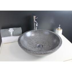Vasque à poser PETRA en Grise 400 X 130 mm