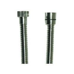 Flexible de douche métal chromé 2.00 m - Double Agraphage - F1/2 - F1/2