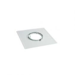 Plaque de Propreté pour plafond acier brut 2mm 400 x 400 - Ø 240 mm