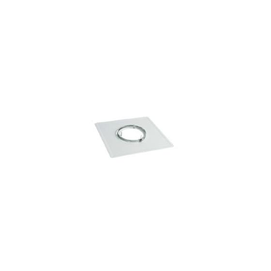 Plaque de propreté Inox Blanc 300 x 500 - Ø 80 mm - 127080