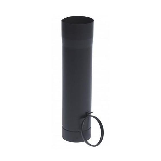 Tuyau télescopique 50 cm + bague Ø 125 Noir Mat