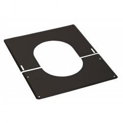 Plaque BIOTEN de Finition noire de 30° à 45° - Ø 80 / 125