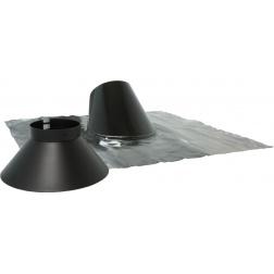 Solin Inox Collet 30° à 45° bavette plomb Noir Ø 80 / 125