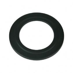 Rosace ronde Noir Mat