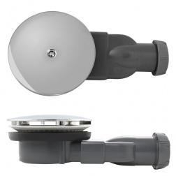 Bonde de douche Extra plate SLIM Ø 90 mm - Grille ABS Chromé