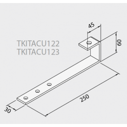 Ferrure d'ancrage fixation sur toit avec ardoise pour 1 Capteurs TKITACU122