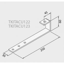 Ferrure d'ancrage fixation sur toit avec ardoise pour 2 Capteurs TKITACU123