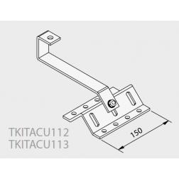 Ferrure d'ancrage fixation sur tuile mecanique pour 2 Capteurs TKITACU113