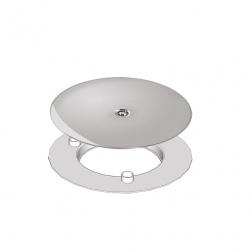 Grille ABS Chromé pour SLIM DOUCHE Ø 90 mm
