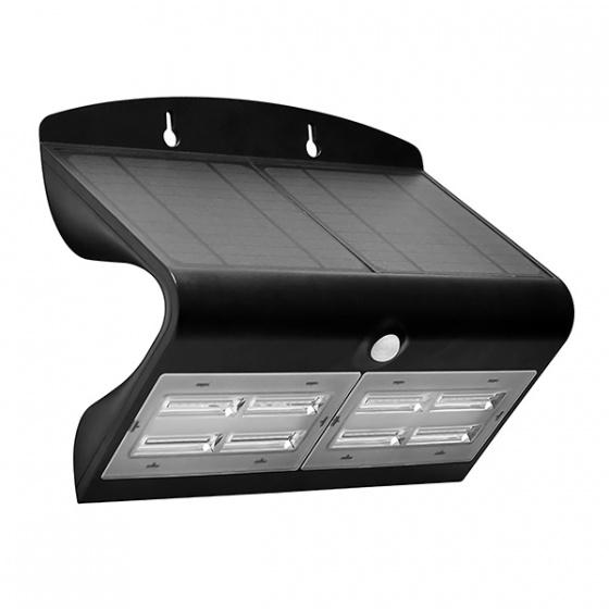 Applique Solaire à LED 6.8 w IP 44 Noir 800 Lumens