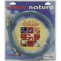 Flexible Gaz Naturel Long 1.50 m inox à Vie - 18515