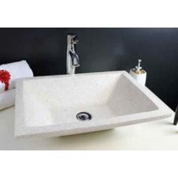 Vasque à poser TAMARA Crème 500 X 370 mm