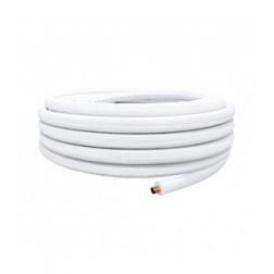 Liaison Frigorifique Ø 1/4 X 0.8 Mono tube Isolé Blanc 25ML