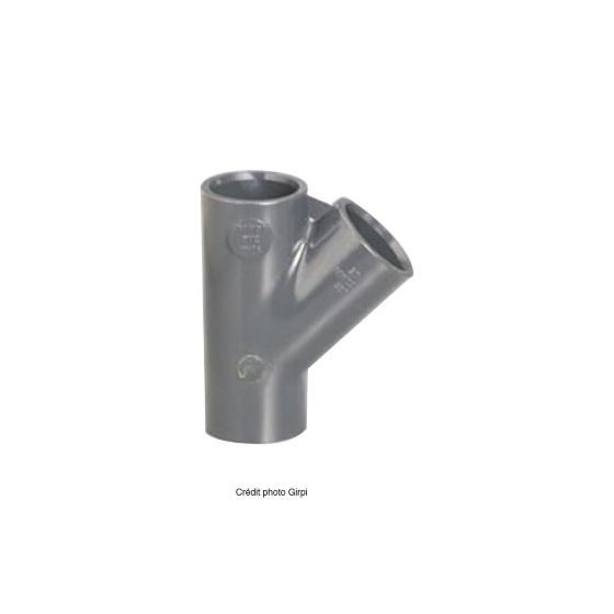 Culotte PVC pression à coller Ø 50 F/F - 45°