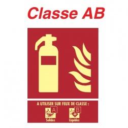 """Panneaux Extincteur Plaque """" Classe AB """" 150 X 200 - 19 12 352"""