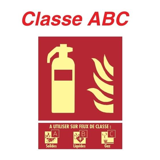 """Panneaux Extincteur Plaque """" Classe ABC """" 150 X 200 - 19 12 360"""