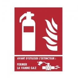 """Panneaux Extincteur Plaque """" Chaufferie Gaz """" 150 X 200"""